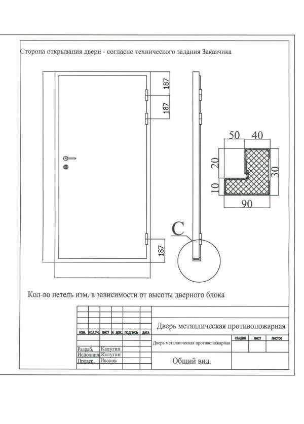 Как сделать входные металлические двери своими руками чертежи 18
